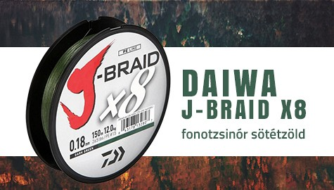 Daiwa J-Braid X8 0,28mm 300m fonotzsinór