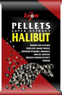 Carp Zoom Halibut Pellets pre-drilled előfúrt pelletek