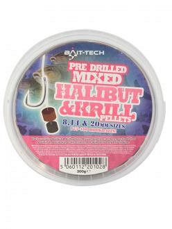 Bait-Tech Marine Halibut&Krill Vegyes Fút Pellet 8,14,20mm 300g