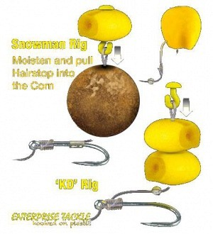 Enterprise tackle imitation sweetcorn buoyant