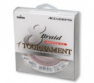 Daiwa tournament 8 braid Accudepth Multikolor többszínű fonott zsinórok