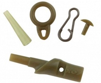 Fox running safety clips camo brown