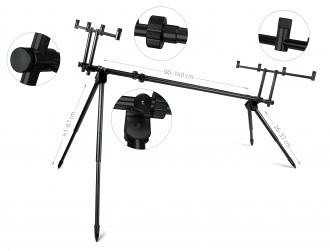 Carp Academy Black Rod Pod 4 Botos